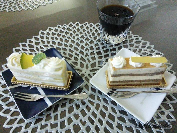 BeBe du la Patisserie Yu Sasageのメロンのショートケーキと紅茶のケーキ
