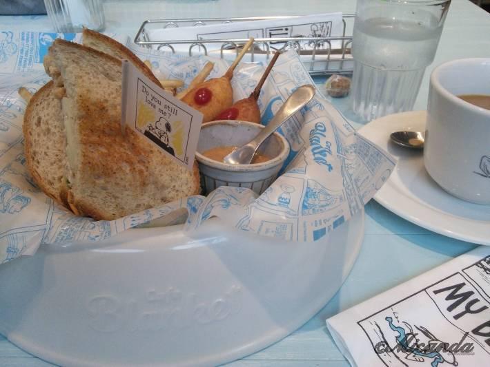 スヌーピーミュージアムのcafe Blanketの「マイ フェイバリット ピーナッツ」