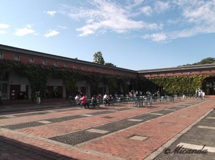倉敷紡績の赤レンガ広場