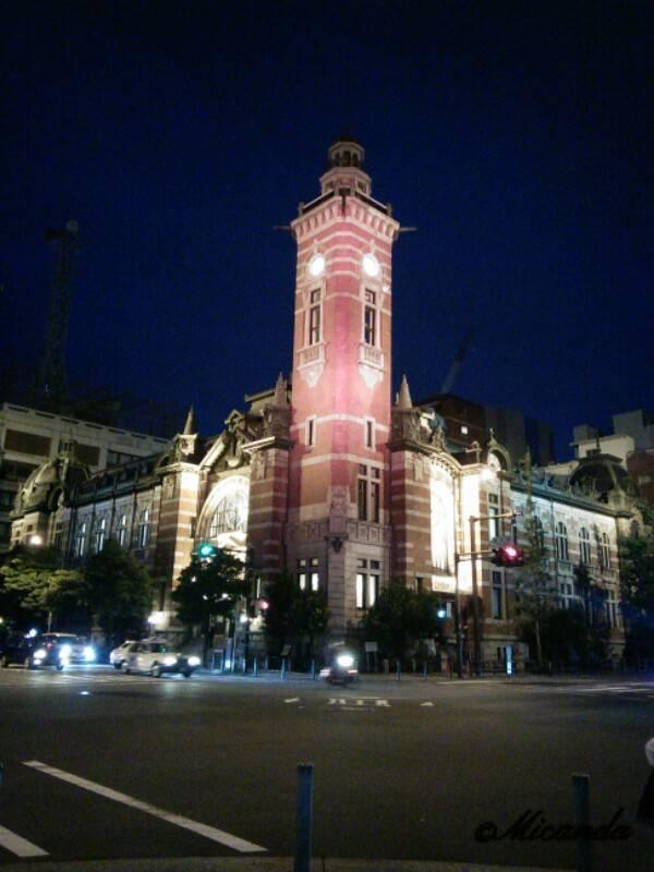 夜の横浜市開港記念会館