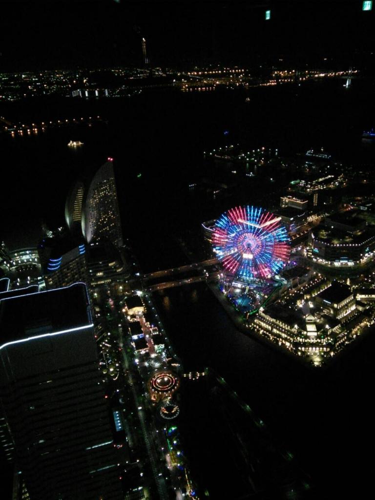 横浜のスカイガーデンからの夜景