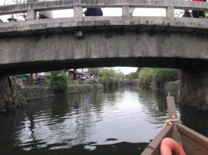 倉敷川舟流しの船からの眺め
