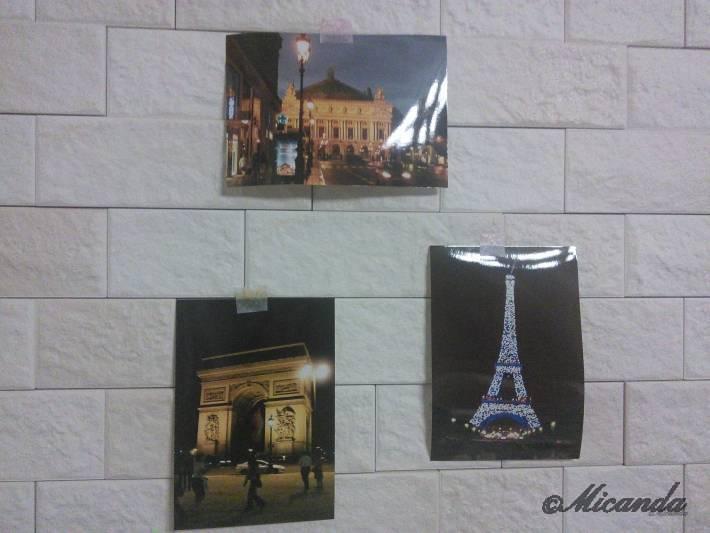 以前にパリに旅行した時の夜景の写真たち