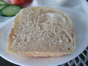 タイガーのパン焼き機「GRAND X」で作ったパンを切った断面
