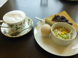 愛知県の小倉トーストが付いたモーニング
