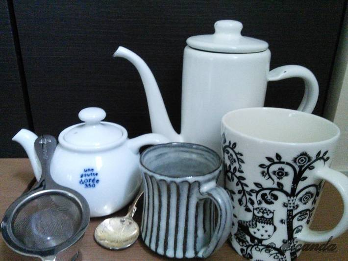 紅茶を飲むためのグッズたち