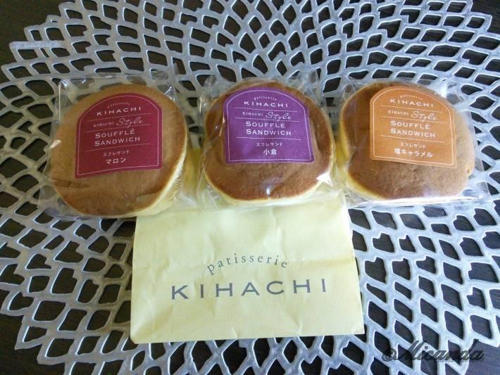 patisserie KIHACHIのどらクリームサンド。栗、小倉、塩キャラメル味