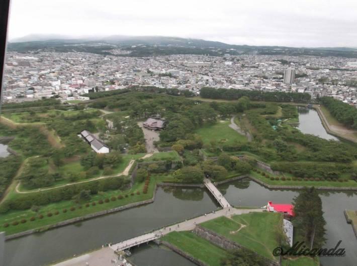 展望台から見た五稜郭