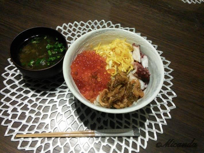 北海道買ったイクラと松前漬けで作った海鮮丼