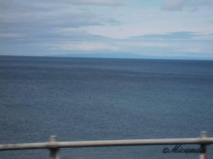 北海道の追分ソーランラインから見る海