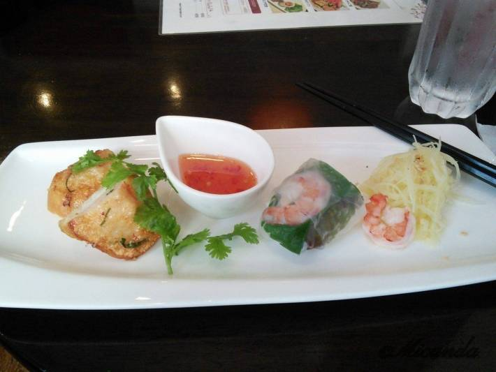 川崎市登戸にあるAsian dining Q:U(アジアンダイニング クー)のランチセットの前菜