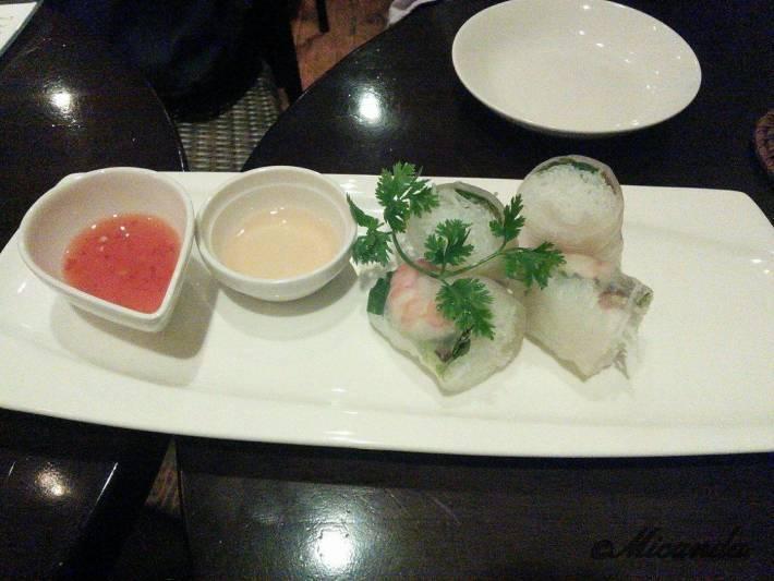 川崎市登戸にあるAsian dining Q:U(アジアンダイニング クー)の生春巻き