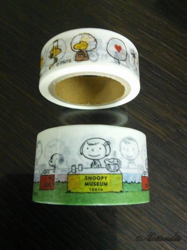 スヌーピーミュージアムで買ったマスキングテープ