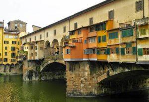 シュノンソー城の回廊を作るときに参考にされたフィレンツェにあるポンテ・ヴェッキオ