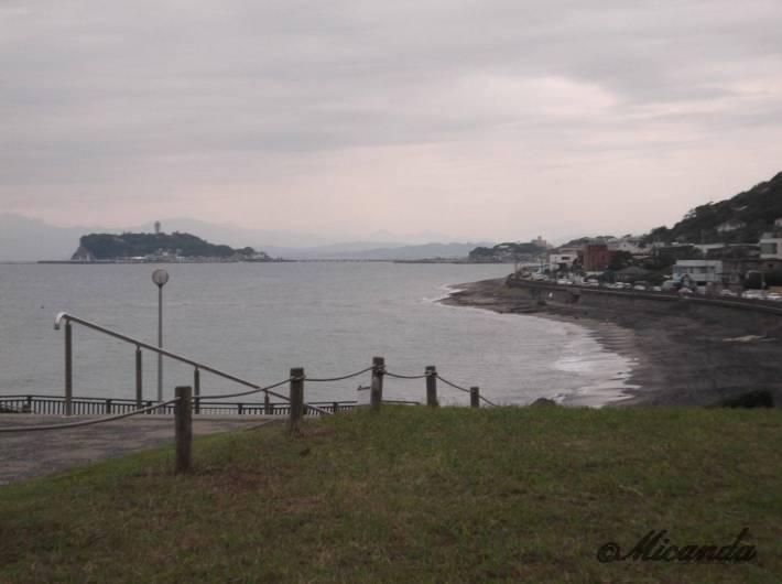 稲村ケ崎公園の高台から見える海