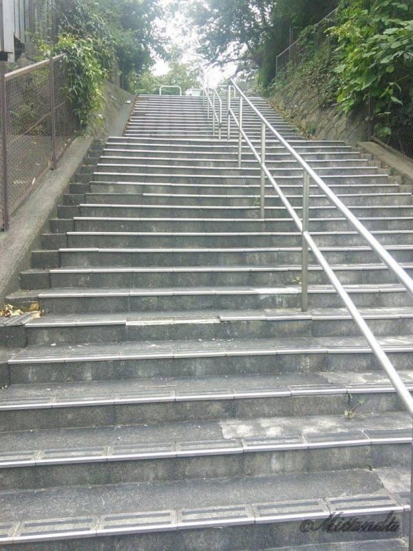 鎌倉山のきつい階段