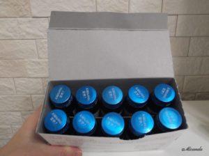 アルマード社のIII型ビューティードリンクの箱を開けたところ