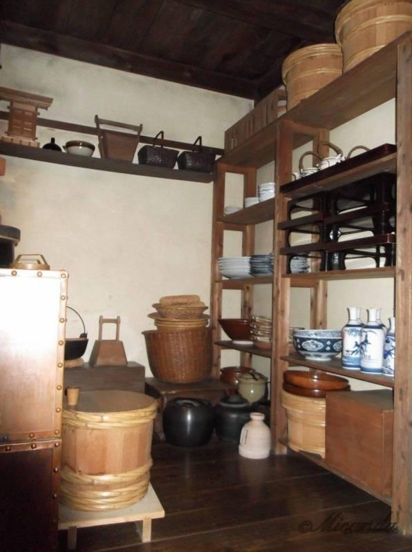 江東区深川江戸資料館の船宿の台所