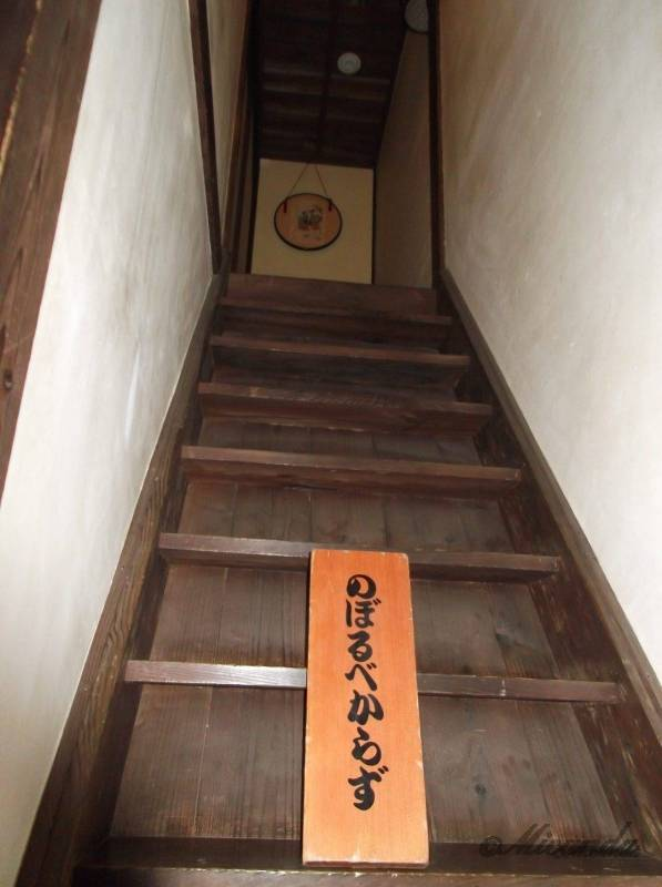 江東区深川江戸資料館の船宿から2階に上がる階段