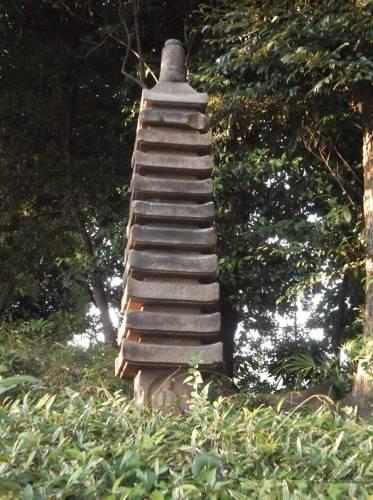 清澄庭園の多重塔