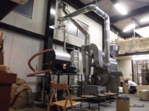 ザ・クリーム・オブ・ザ・クロップ・コーヒーの大きな焙煎機