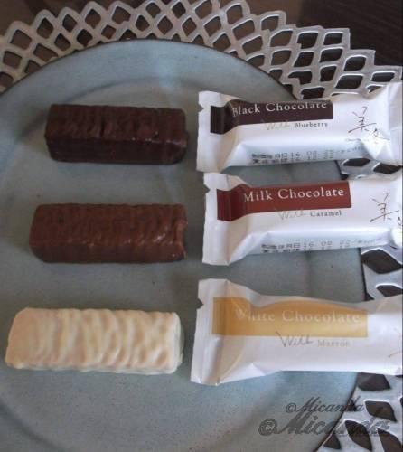 石屋製菓株式会社の「美冬」の個別包装から出したところ