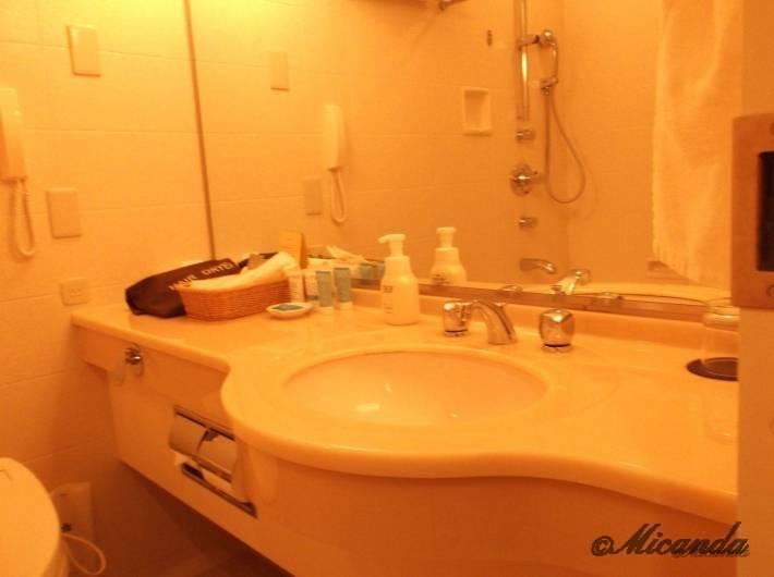 ホテル日航金沢のダブルベッドルームのバスルーム