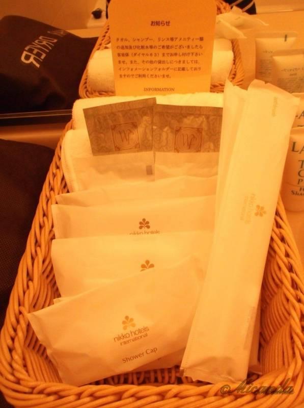 ホテル日航金沢のダブルベッドルームのアメニティ2
