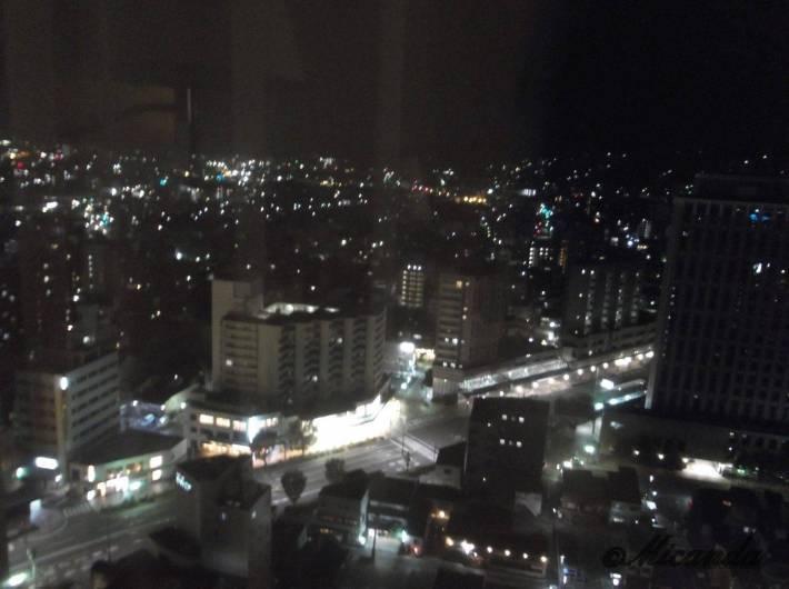 ホテル日航金沢から見た夜景