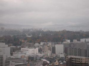 ホテル日航金沢から見た兼六園の風景