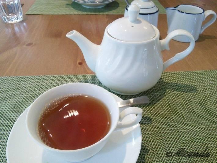 お料理サロン おかむらのランチの食後の紅茶