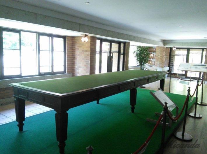 帝国ホテル本館「ライト館」にあるポーツマス条約の調印をした時に使われたテーブル